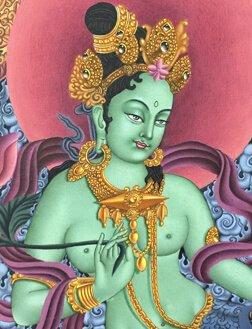 Bodhisattvas Thangka