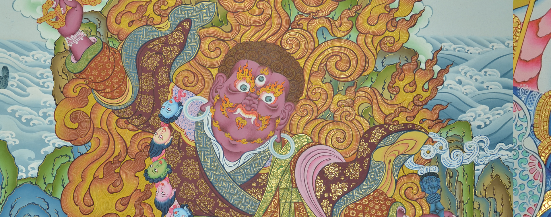 Ferious Dieties Thangka