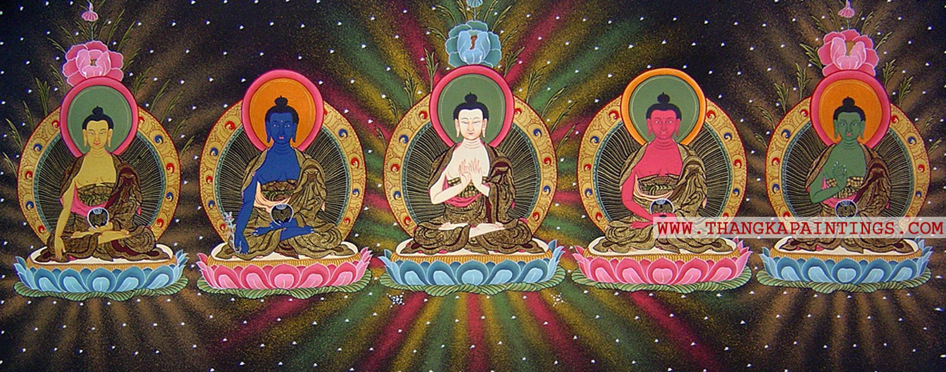 Pancha Buddha Thangka