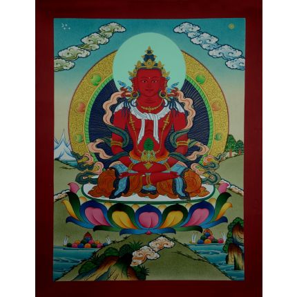 "17"" x 13""  Aparmita Thangka Painting"
