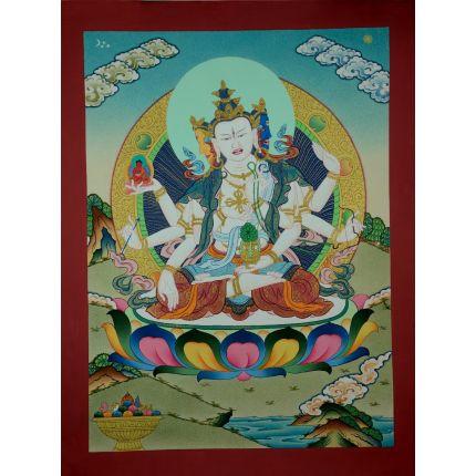 """17""""x13"""" Namgyalma Thangka Painting"""