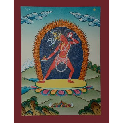 "17.25""x13.25""Vajrayogini Thangka Painting"