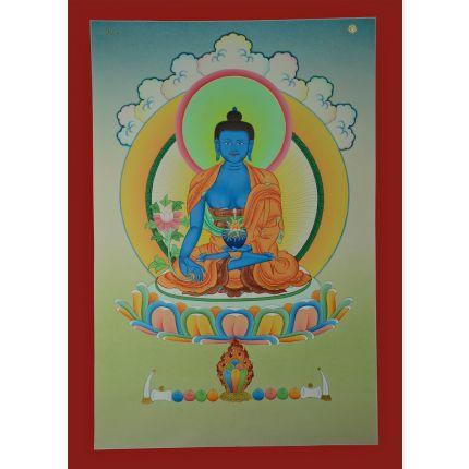 "23.5""x16.5"" Medicine Buddha Thangka"
