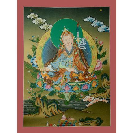 """24.25""""x18.5"""" Guru Padmasambhava Thangka Painting"""