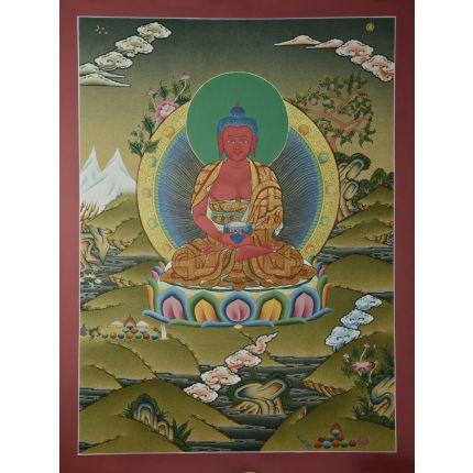 "24.25""x18.25 Amitabha Buddha Thangka"