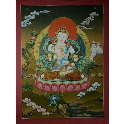 "24.5"" x18.5"" Vajrasattva Thangka Painting"