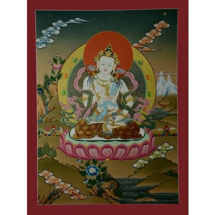 """24.5"""" x18.5"""" Vajrasattva Thanka Painting"""