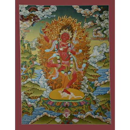 "26.5""x20.5"" Vajravarahi or Dorje Phagmo Thangka Painting"