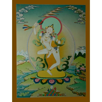 "26.5""x20.5""  Machig Labdron Thangka Painting"
