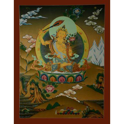 """26.5""""x20.5"""" Manjushiri Thankga Painting"""