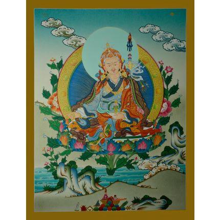 "26.25""x20"" Guru Rinpoche Thangka"