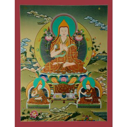 """26.5""""x20.5""""  Tsongkhapa Thangka Painting"""