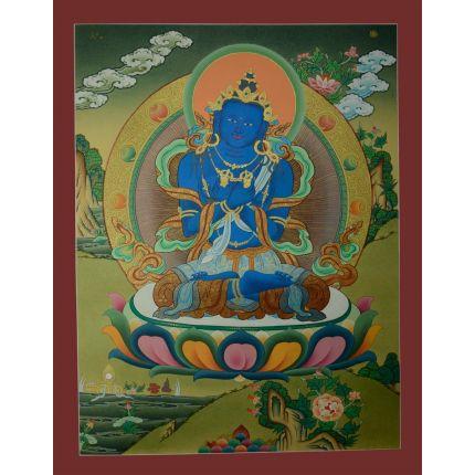 """26.25""""x20.25"""" Vajradhara Thangka Painting"""