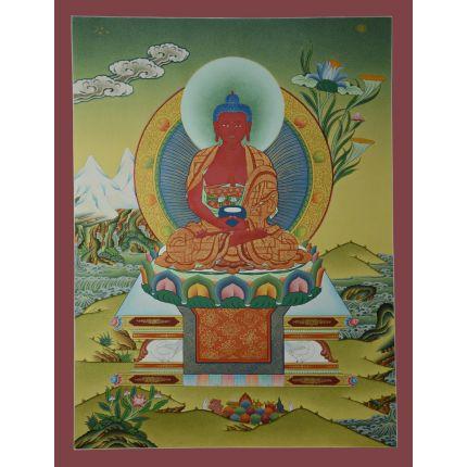"26""x24"" Amitabha Buddha Thangka  Painting"
