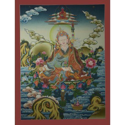 """29.5""""x22.5"""" Guru Rinpoche Thangka Painting"""