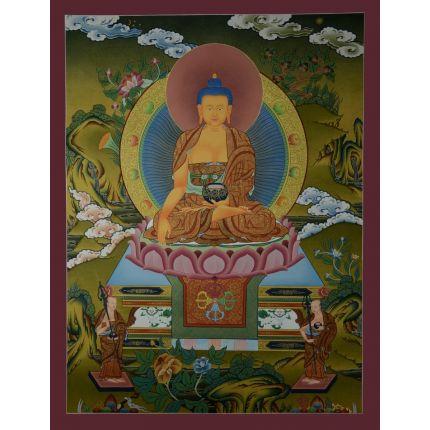 """29""""x22.5""""  Shakyamuni Buddha Thangka Painting"""