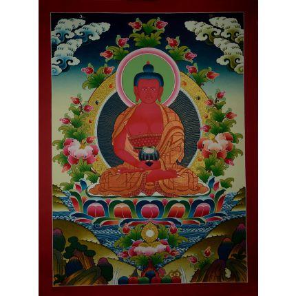"29.75""x22"" Amitabha Buddha Thangka  Painting"