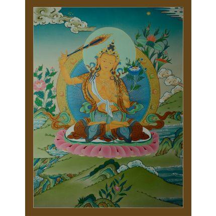 """29.5""""x22.5"""" Manjushiri Thankga Painting"""