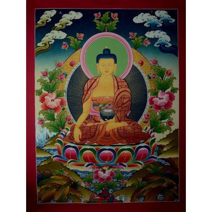 """29""""x22.25"""" Shakyamuni Buddha Thangka Painting"""
