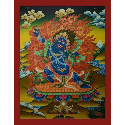 """29.5""""x22.5"""" Vajrapani Thangka Painting"""