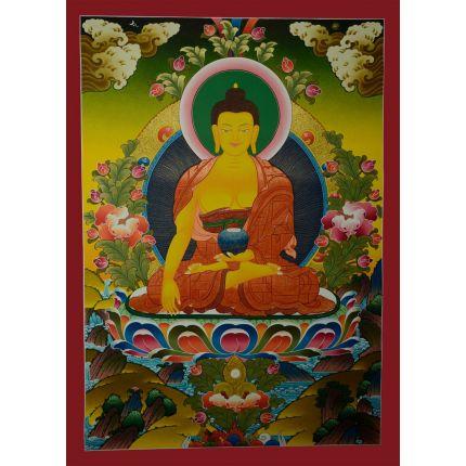 """30.5""""x22.25"""" Shakyamuni Buddha Thangka Painting"""