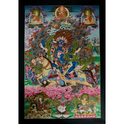 "32.75"" x 22.75"" Palden Lhamo Thangka Painting"