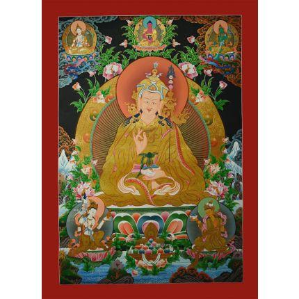 """32.25""""x23"""" Guru Padmasambhava Thangka Painting"""