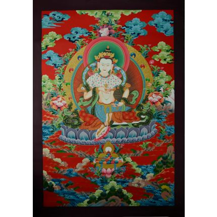 "32.5'x23"" Vajrasattva Thangka Painting"