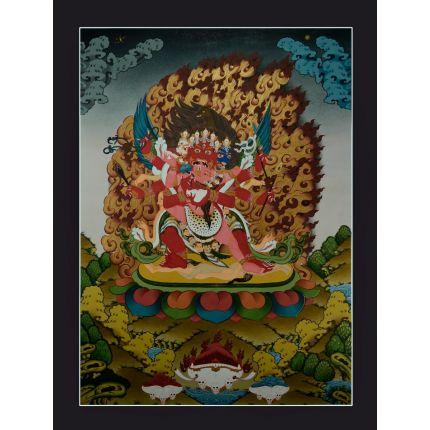 "32.5""x25""  Hayagriva Thankga Painting"
