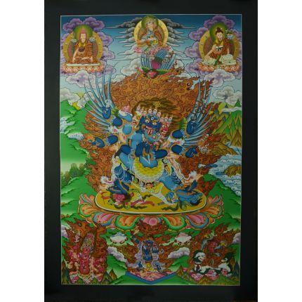 """33.5""""x23.5"""" Vajrakilaya Thangka Painting"""