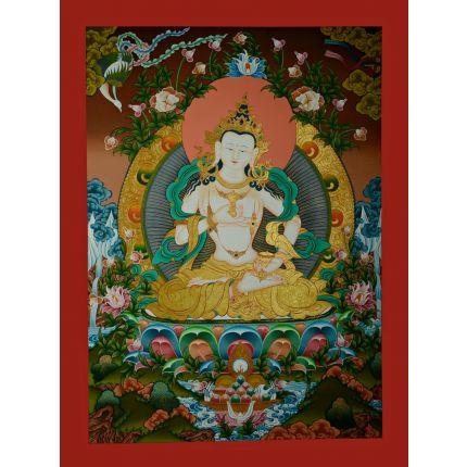 "33.75""x25.5""Vajrasattva Thangka Painting"