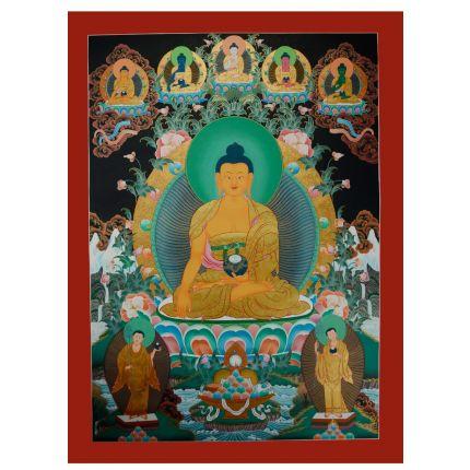 "Shakyamuni Buddha Thanka Painting - 34.25""x24.75"""