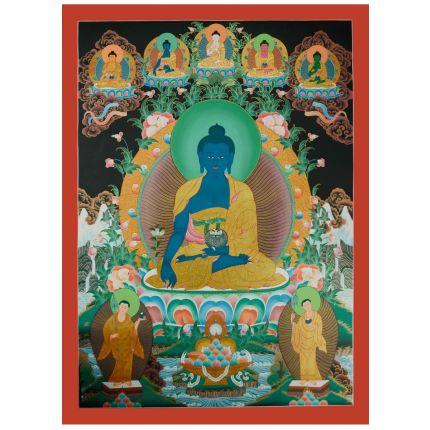 "Medicine Buddha Thanka  - 34""x24.75"""