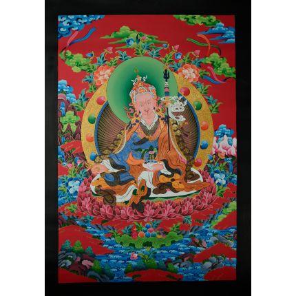 "34""x24.25"" Guru Rinpoche Thangka"