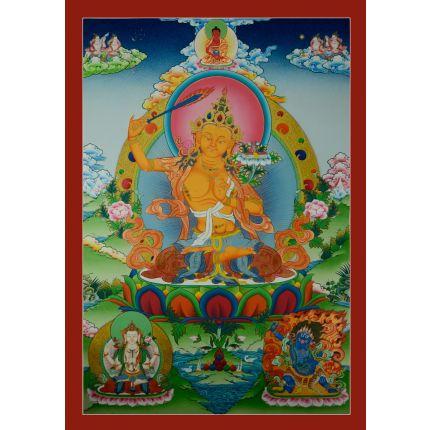"""32.75""""x22.5""""   Manjushiri Thankga Painting"""