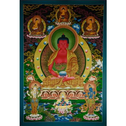 "42.5""x30.5"" Pure Land Amitabha Buddha Thangka"
