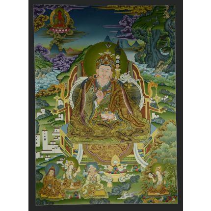 """41.75""""x30.5"""" Guru Padmasambhava Thangka"""