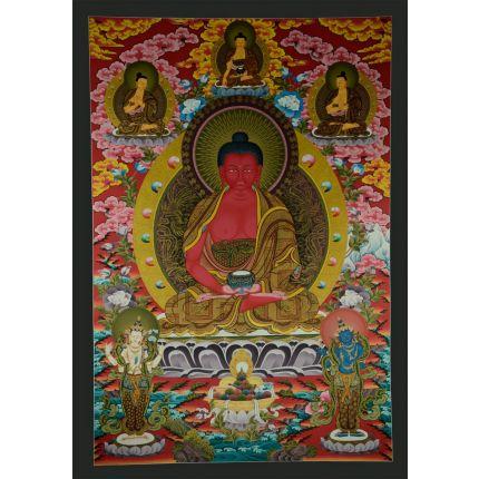 "42.5""x29.75"" Amitabha Buddha Thangka"