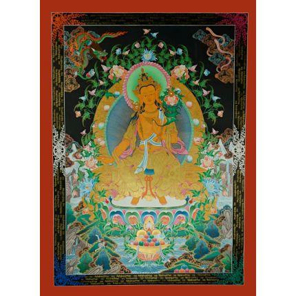"""47.5""""x34.75"""" Maitreya Buddha Thangka Painting"""