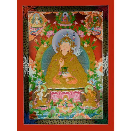 """47.5""""x 35.25"""" Guru Padmasambhava Thangka"""