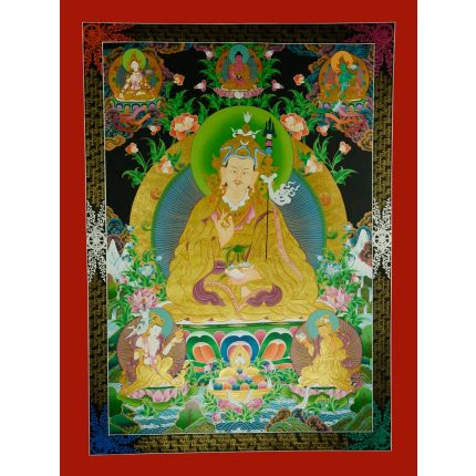 """48.5""""x 26.5""""  Guru Padmasambhava Thangka"""