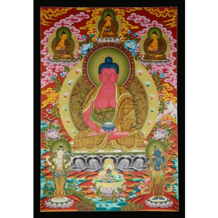 """Amitabha Buddha Thanka - 42.5"""" x 29.5"""""""