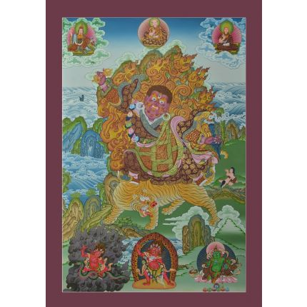 "Dorje Drolo Thankga Eight Manifestations of Guru Padsambhava  - 32.75"" x 22.75"""