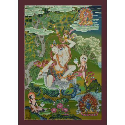 "Mahasiddha  Naropa Thankga– 33""x 23.75"""