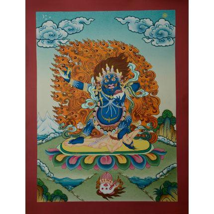 """17.5""""x13.5"""" Karzopa Mahakala Thankga Painting"""
