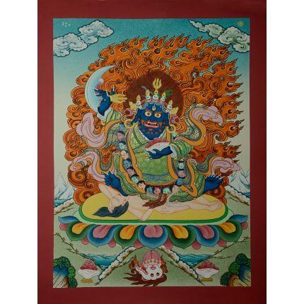"""17.25""""x13.25""""Karzopa Mahakala Thankga Painting"""