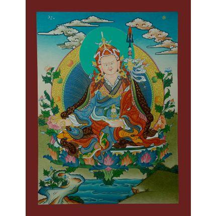"""17""""x13"""" Guru Padmasambhava Thangka"""