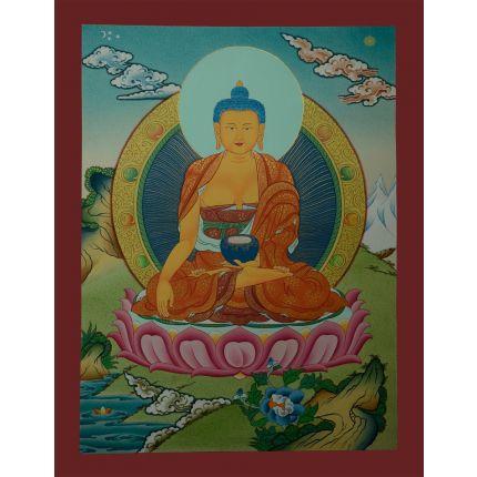 """17.25""""x13.5"""" Shakyamuni Buddha Thangka Painting"""