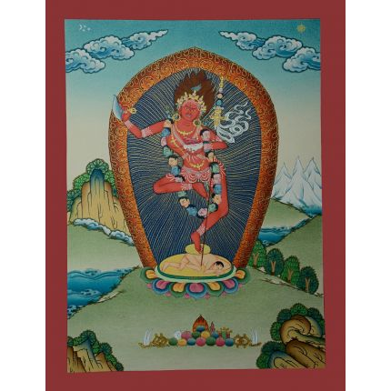 "17.25""x13.25"" Vajravarahi or Dorje Phagmo Thangka Painting"