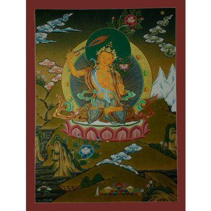 """24.5""""x18.5"""" Manjushiri Thankga Painting"""